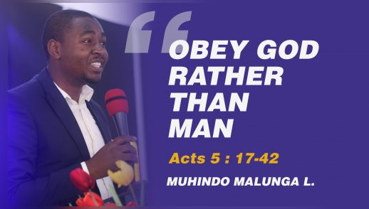 OBEY GOD RATHER THAN MAN