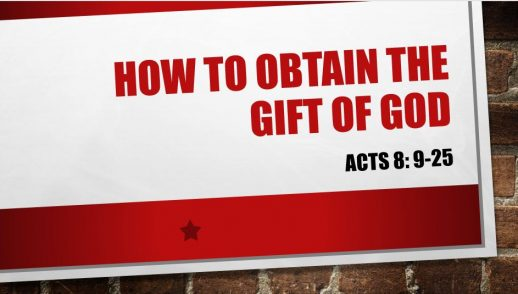 HOW TO OBTAIN THE GIFT OF GOD