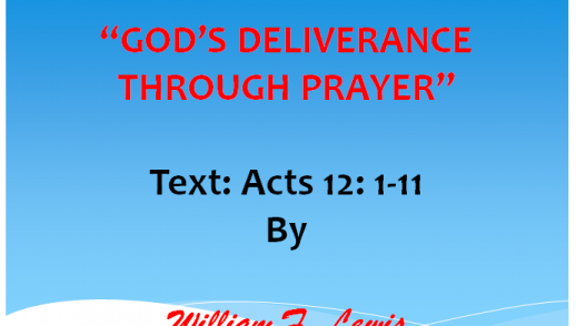 GOD'S DELIVERANCE THROUGH PRAYER