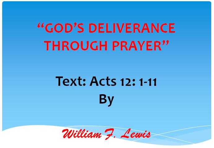 GOD'S DELIVERANCE THROUGH PRAYER
